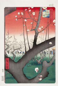 Hiroshige Kameidon luumutarha