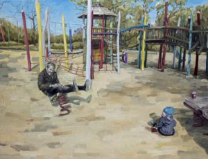 topi_ruotsalainen_all_play_and_no_work_2015_oljy_kankaalle_146x191cm
